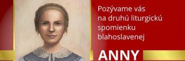 Liturgická spomienka bl. Anky Kolesárovej